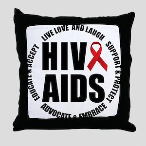 HIV/AIDS Throw Pillow
