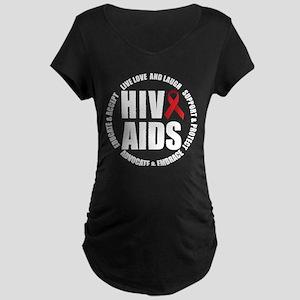 HIV/AIDS Maternity Dark T-Shirt
