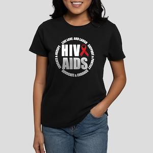 HIV/AIDS Women's Dark T-Shirt