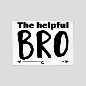 The helpful bro 5'x7'Area Rug