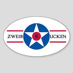 Zweibrucken Air Base Oval Sticker