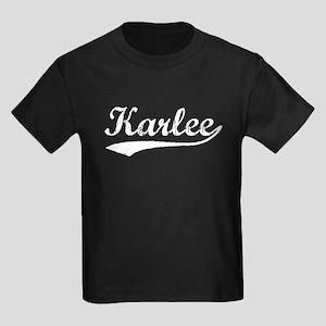 Vintage Karlee (Silver) Kids Dark T-Shirt