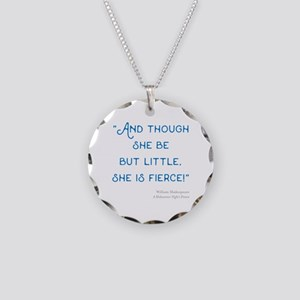 Little but Fierce! - Necklace Circle Charm
