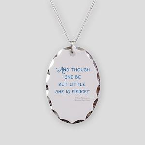 Little but Fierce! - Necklace Oval Charm