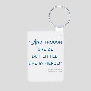 Little but Fierce! - Aluminum Photo Keychain