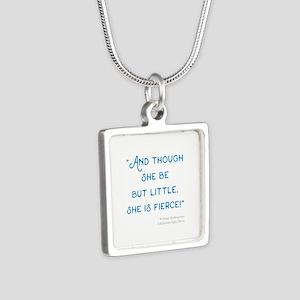 Little but Fierce! - Silver Square Necklace