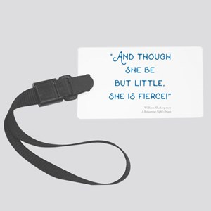 Little but Fierce! - Large Luggage Tag
