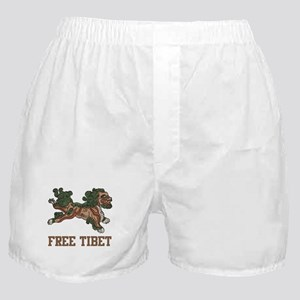 Snow Lion Free Tibet Boxer Shorts