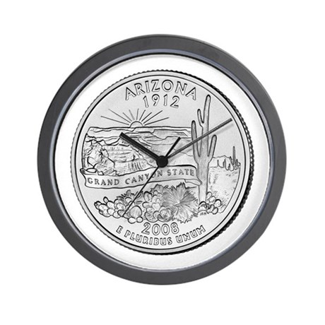 2008 Arizona State Quarter Wall Clock