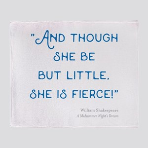 Little but Fierce! - Throw Blanket