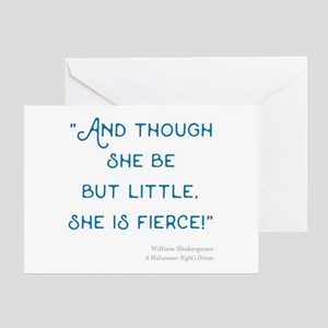 Little but Fierce! - Greeting Card