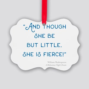Little but Fierce! - Picture Ornament