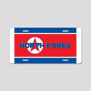 North Korean Flag (Labeled) Aluminum License Plate
