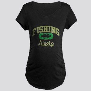 FISHING ALASKA Maternity Dark T-Shirt