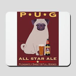 Pug All Star Ale Mousepad