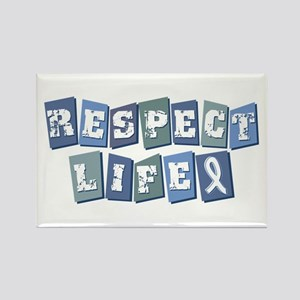 Respect Life (bl) Rectangle Magnet