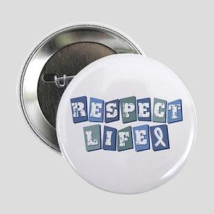 "Respect Life (bl) 2.25"" Button"