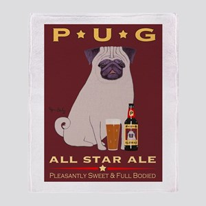 Pug All Star Ale Throw Blanket