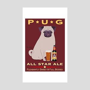 Pug All Star Ale Sticker (Rectangle 10 pk)