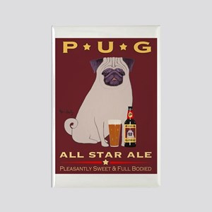 Pug All Star Ale Rectangle Magnet