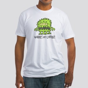 Where's My Coffee Monster Fitted T-Shirt