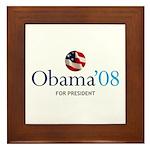 Obama '08 Framed Tile