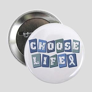 "Choose Life (Block) 2.25"" Button"