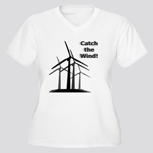 Catch the Wind Women's Plus Size V-Neck T-Shirt