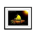 Dome of the Rock Framed Panel Print