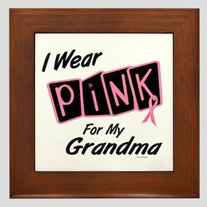 I Wear Pink For My Grandma 8 Framed Tile