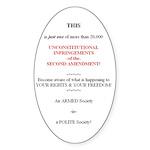 Infringement Notice Oval Sticker (50 pk)