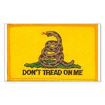 Don't Tread on Me! Rectangle Sticker 50 pk)
