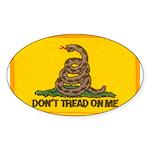 Don't Tread on Me! Oval Sticker (10 pk)
