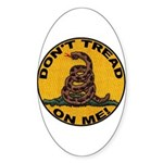 Don't Tread on Me-Circle Oval Sticker