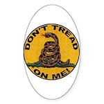 Don't Tread on Me-Circle Oval Sticker (10 pk)