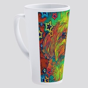 Copper the Havapookie with stars 17 oz Latte Mug