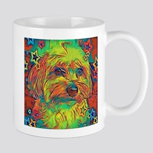 Copper the Havapookie with stars Mugs