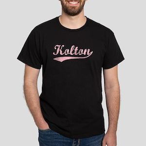 Vintage Kolton (Pink) Dark T-Shirt