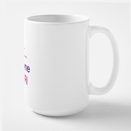 I'M A HOT DIABETIC GIMME SUGAR Large Mug