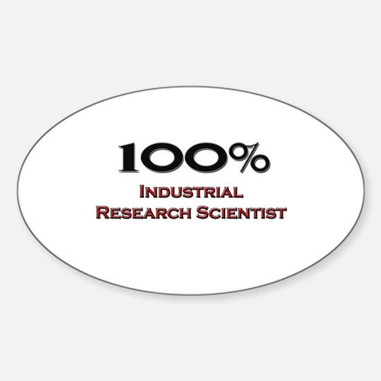 100 Percent Industrial Research Scientist Decal