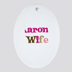 Aaron's Wife Oval Ornament