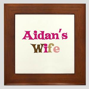 Aidan's Wife Framed Tile