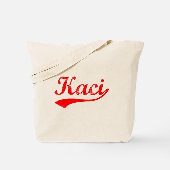 Vintage Kaci (Red) Tote Bag