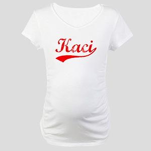 Vintage Kaci (Red) Maternity T-Shirt