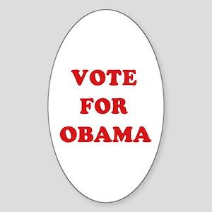 Vote for Obama Oval Sticker