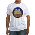 USS KITTY HAWK Fitted T-Shirt