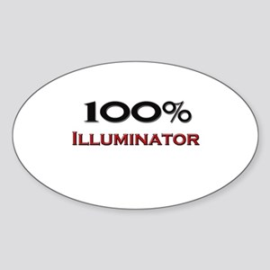 100 Percent Illuminator Oval Sticker