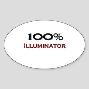 100 Percent Illuminator Oval Sticker