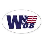 George W. Bush in '08 Oval Sticker
