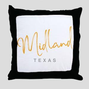 Midland Texas Throw Pillow